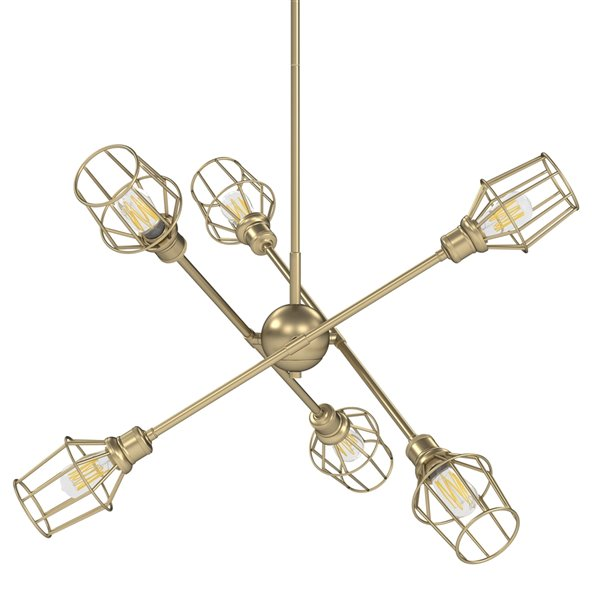 Golden Lighting Axel 6-Light Chandelier with Shades - 36-in