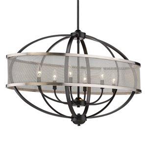 Golden Lighting Colson Linear Pendant Light - 42-in - Black