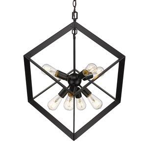 Golden Lighting Architect 8-Light Pendant Light - Black