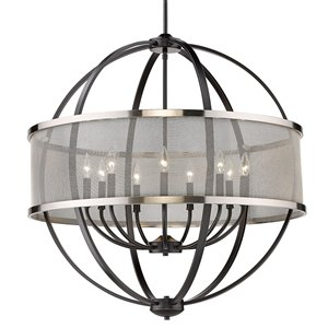 Golden Lighting Colson 9-Light Chandelier with Shade - 32-in