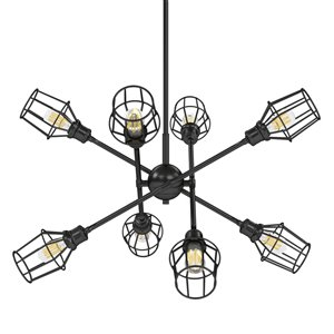 Golden Lighting Axel 8-Light Chandelier with Shades - 39-in