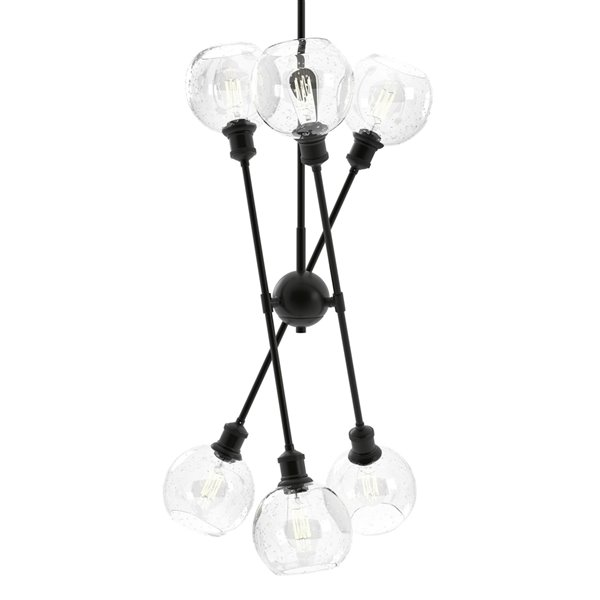 Golden Lighting Axel 6-Light Chandelier with Shades - 34-in