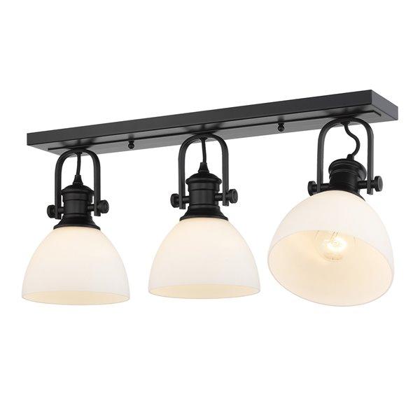 Golden Lighting Hines 3-Light Semi-Flush - Black