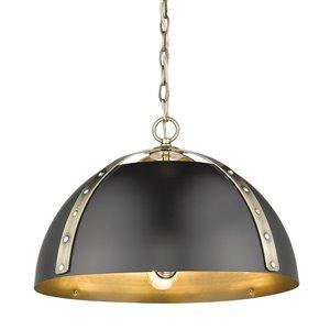 Golden Lighting Aldrich Aged Brass 3-Light Pendant Light - Gold