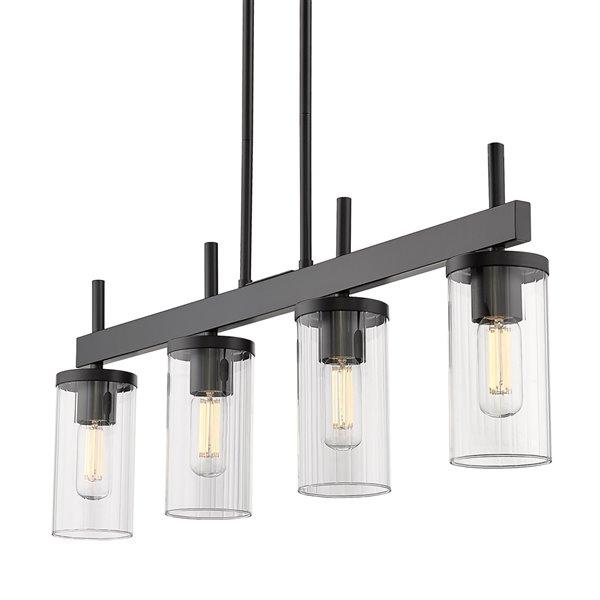 Golden Lighting Winslett Linear Pendant Light - 36-in - Black