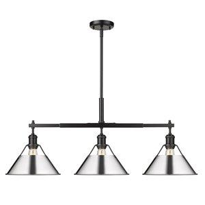 Golden Lighting Orwell Linear Pendant Light - 42-in - Black