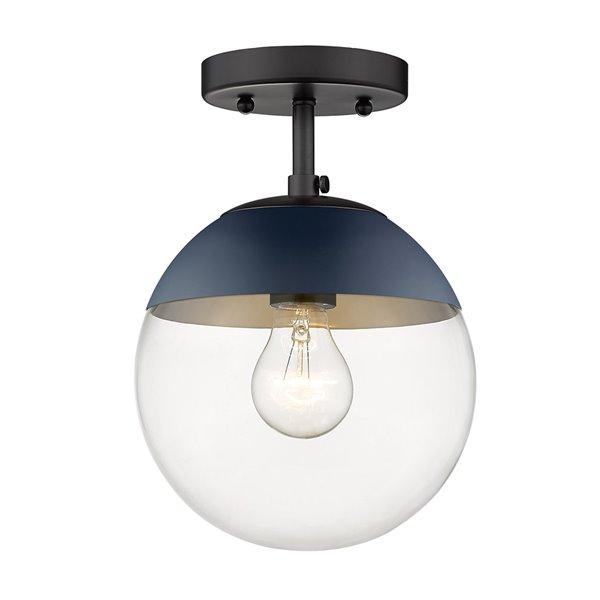 Golden Lighting Dixon Semi-Flush Light - Black