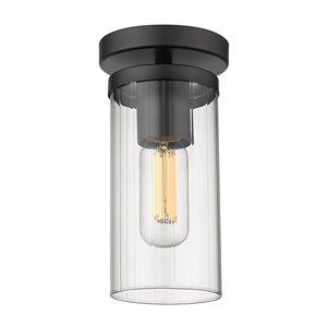 Golden Lighting Winslett Semi-Flush Light - Black