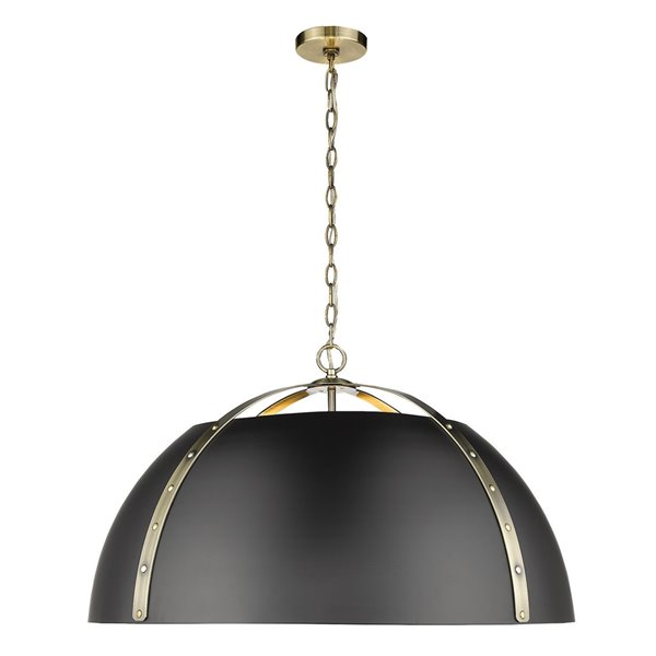 Golden Lighting Aldrich AB 5-Light Aged Brass Pendant Light - Gold