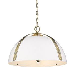 Golden Lighting Aldrich Aged Brass 3-Light Pendant - Gold