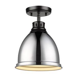 Golden Lighting Duncan Flush Mount Light - 8-in - Black
