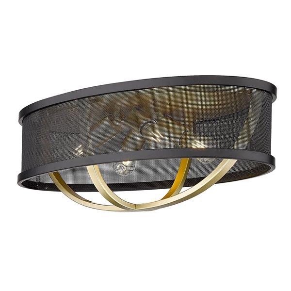 Golden Lighting Colson Flush Mount Light - 24-in - Gold
