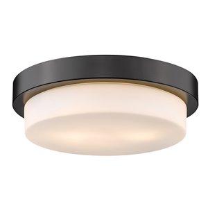 Golden Lighting Versa Flush Mount Light - 13-in - Black