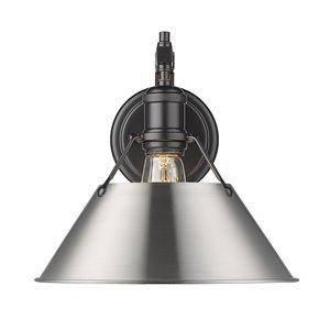 Golden Lighting Orwell 1-Light Wall Sconce - 10-in - Black