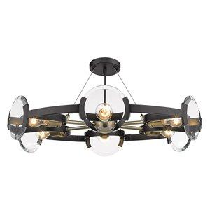 Golden Lighting Amari 6-Light Semi-Flush iLight - Black