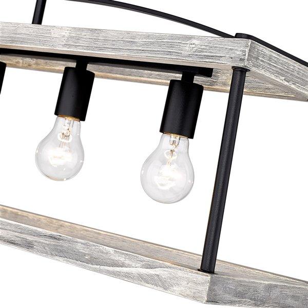 Golden Lighting Teagan Linear Pendant Light - 42-in - Black