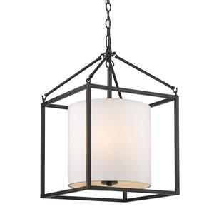 Golden Lighting Manhattan 3-Light Pendant - Matte Black