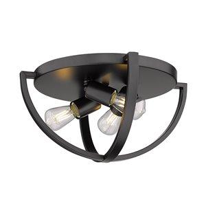 Golden Lighting Colson Flush Mount Light - 14-in - Black