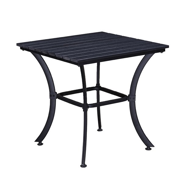 Oakland Living Patio Dining Set - Steel - 3-Piece - Black
