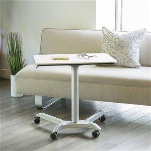 Chariot pneumatique AIRLIFT XL de bureau mobile assis-debout ajustable en hauteur de Seville Classics, blanc