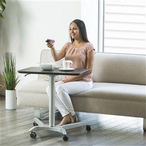 Chariot pneumatique AIRLIFT XL de bureau mobile assis-debout ajustable en hauteur de Seville Classics, espresso