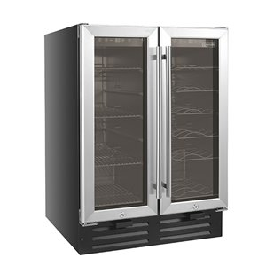 Cavavin Beverage center double door with 9 Shelves Built-in or Freestanding - 19 Bottles and 58 Cans