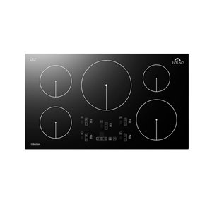 Forno Induction Cooktop Black with 5-Burners - 36-in