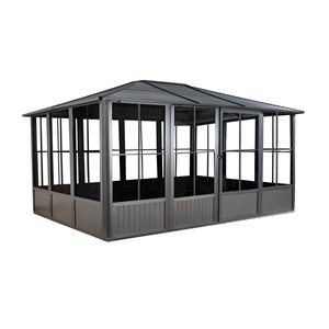 Sojag Korado Rectangular Solarium - Dark Grey - 10-ft x 17-ft
