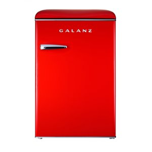 Galanz Retro Single Door Mini Fridge, Fridge Only in Red - 4.4 cu. ft.