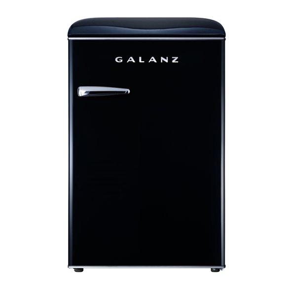 Galanz Retro Single Door Mini Fridge, Fridge Only in Black - 4.4 cu. ft.