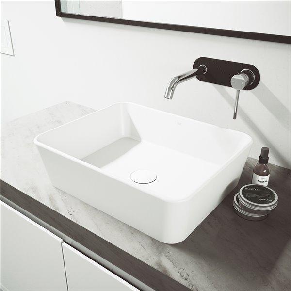 VIGO LenoxWall Mount Bathroom Faucet - Chrome
