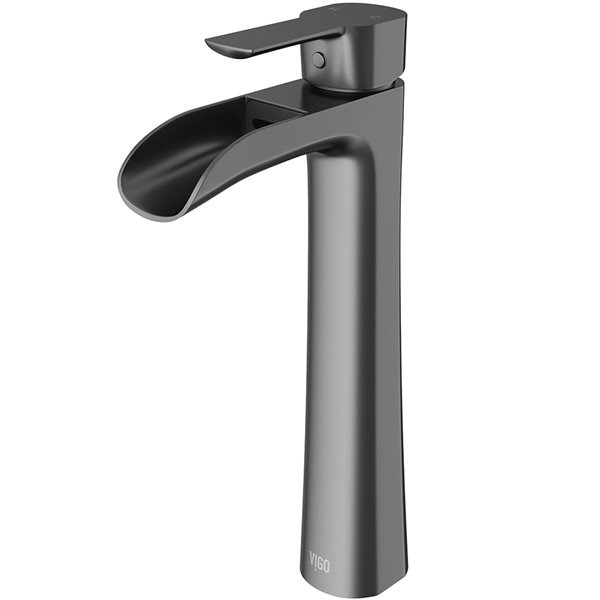 VIGO Niko Bathroom Faucet - Graphite Black