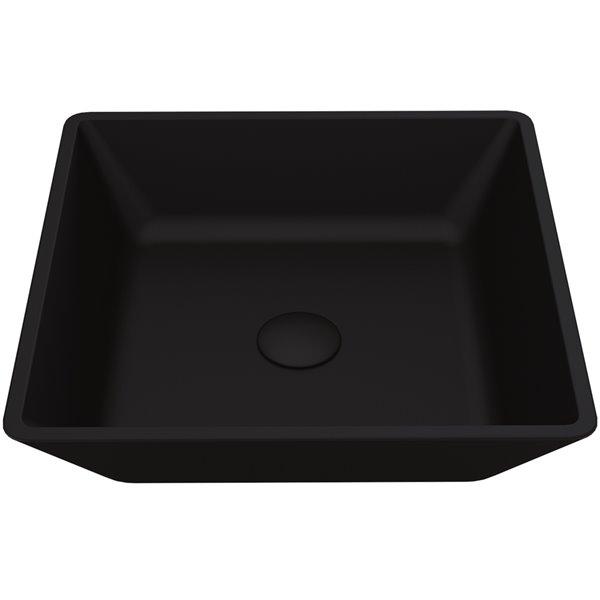 VIGO Roma Bathroom Sink - 15.75-in - Matte White