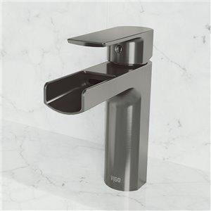 Robinet monotrou pour salle de bains Ileana de VIGO, noir graphite