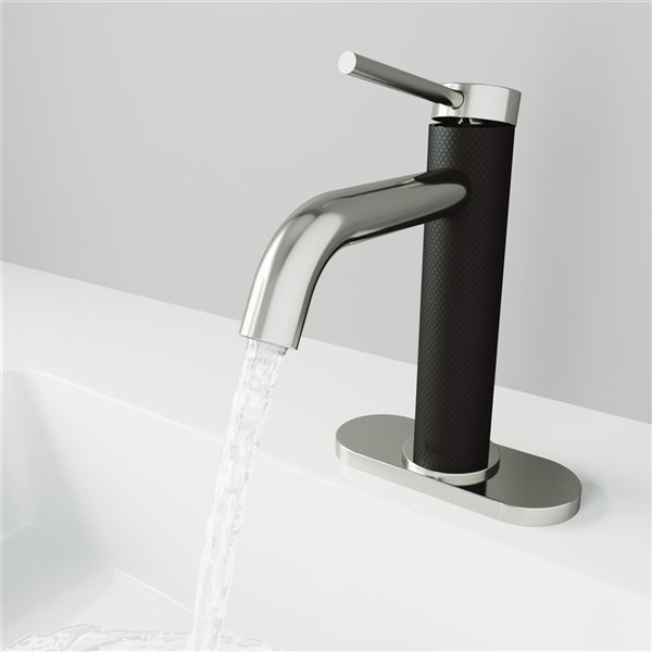 VIGO Madison Single Hole Bathroom Faucet - Brushed Nickel