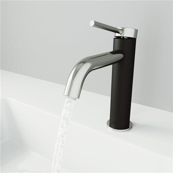 VIGO Madison Bathroom Faucet - Single Hole - Brushed Nickel