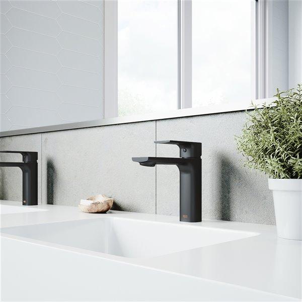 Robinet pour salle de bains Davidson de VIGO, noir mat