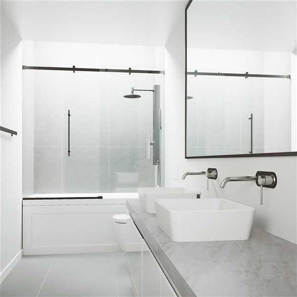 VIGO LenoxWall Mount Bathroom Faucet - Brushed Nickel