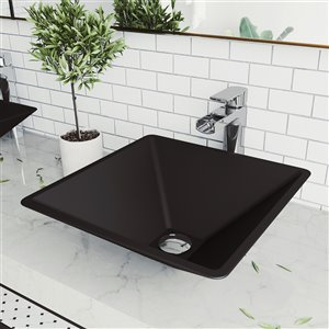 VIGO Serato Matte Black Bathroom Sink -