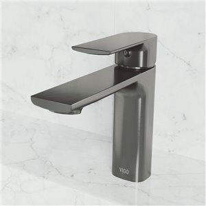 Robinet monotrou pour salle de bains Davidson de VIGO, noir graphite