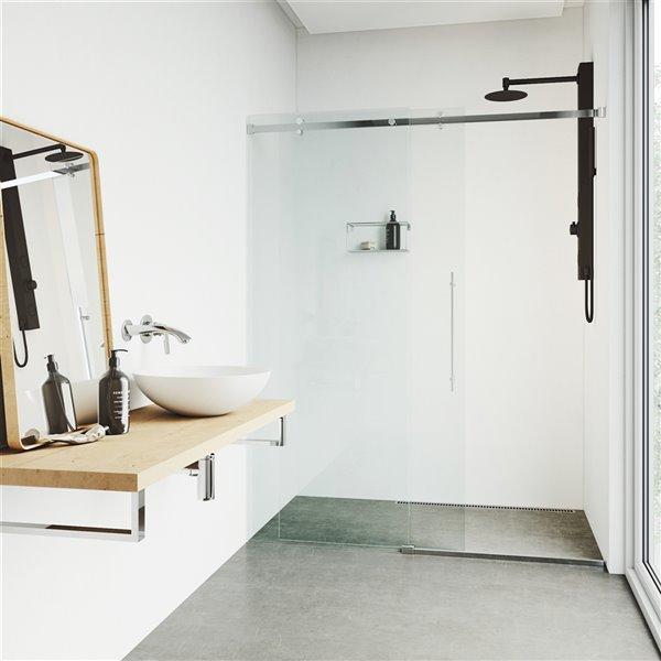 VIGO Gardenia Shower Panel - Matte Black