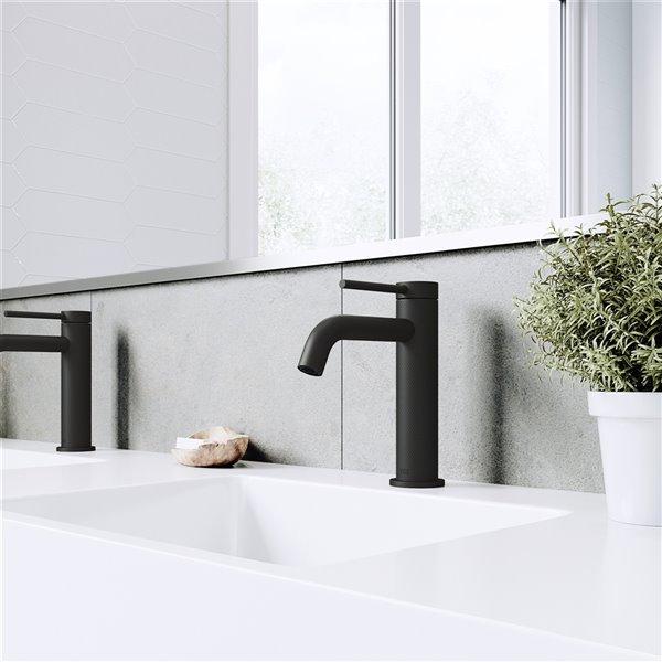 VIGO Madison Single Hole Bathroom Faucet - Matte Black