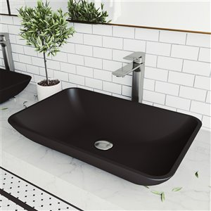 VIGO Hadyn Matte Black Bathroom Sink -