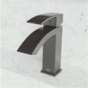 Robinet monotrou pour salle de bains Satro de VIGO, noir graphite