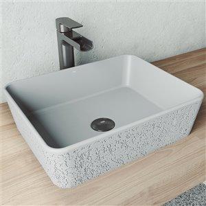 Lavabo de salle de bains Zinnia de VIGO, 17,75 po, gris cendré