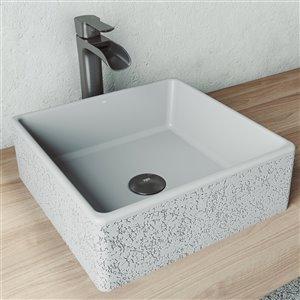 VIGO Aster Light Grey Bathroom Sink -
