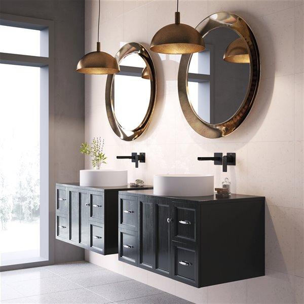 Lavabo de salle de bains Anvil de VIGO, 16 po, blanc mat