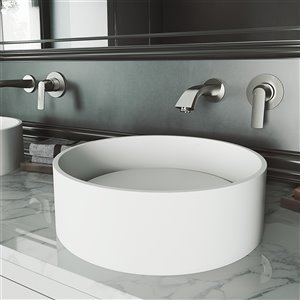 VIGO Anvil Bathroom Sink - 16-in - Matte White