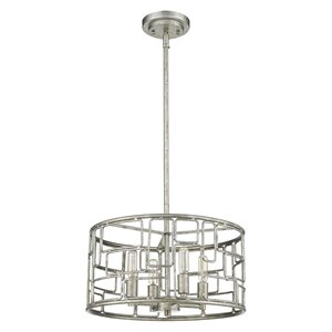 Acclaim Lighting Amoret Convertible Pendant Light - 4-Light - Antique Silver - 16-in