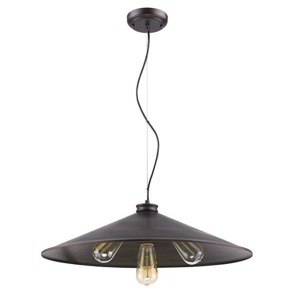 Luminaire suspendu Alcove de Acclaim Lighting à 4 lumières, intérieur en laiton brut et bronze, 24 po
